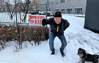 Erik og andre Ruseløkka-beboere jubler over bystyrets nei til utbygging i Sommerfrydparken