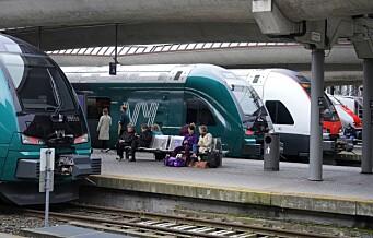 Togtrøbbel ut og inn av Oslo. Førte til store forsinkelser på flere linjer