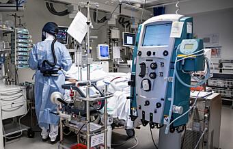 Nytt koronadødsfall ved OUS. Antall innlagte covid-pasienter er nå like høyt som i april i fjor