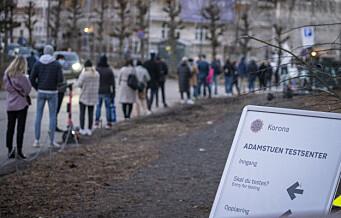 495 nye koronasmittede i Oslo siste døgn er det høyeste tallet så langt. Ny nasjonal rekord