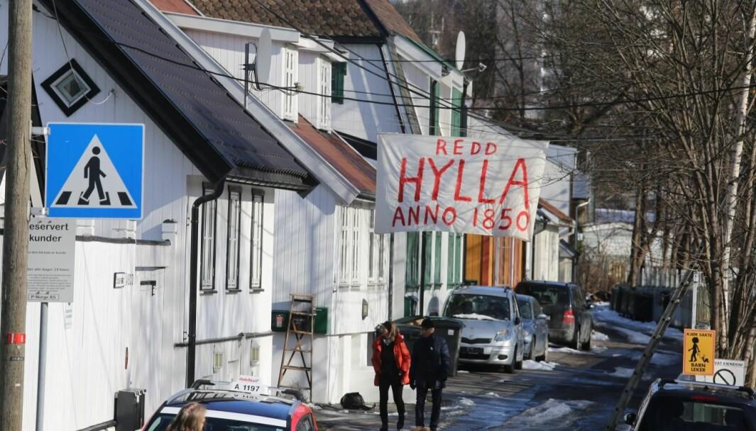Framtiden til de verneverdige husene på Hylla i Enebakkveien er fortsatt usikker etter møtet i bystyrets byutviklingsutvalg onsdag ettermiddag.