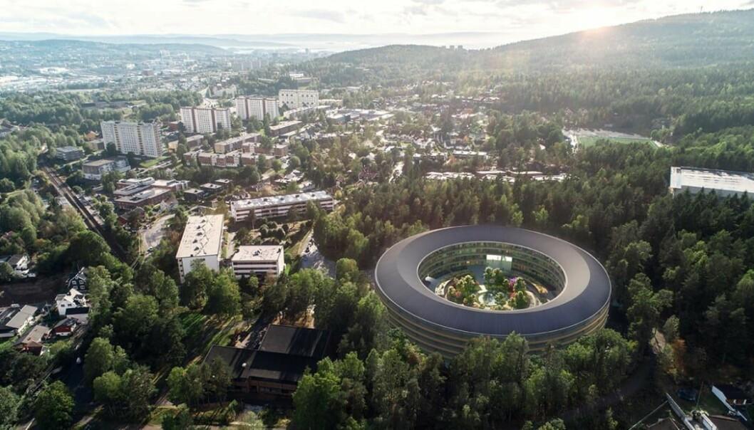 OBOS planlegger å bygge cirka 150 nye to- til fireromsleiligheter like ved Ammerud T-banestasjon i Oslo.