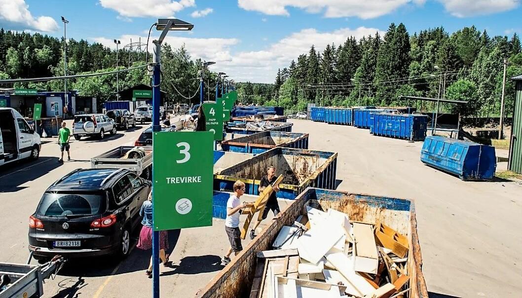 Grønnmo gjenbruksstasjon er et av de største avfallsanleggene i Oslo.