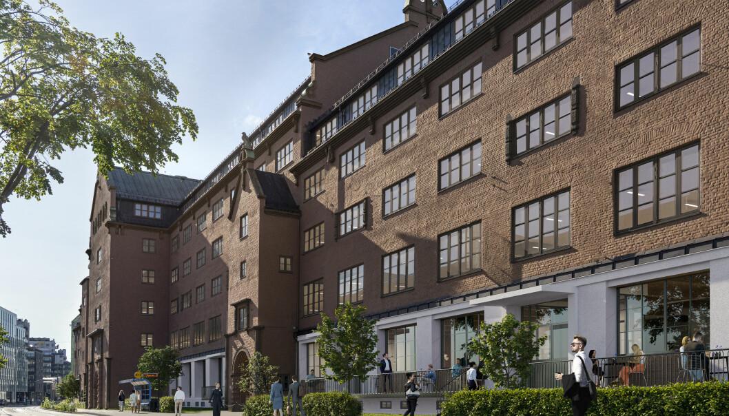Tollgaarden blir et travelt samlingspunkt med kontorer og servicefunksjoner på bakkeplan, i et fredet bygg fra 1926.