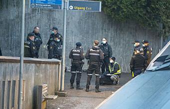 To skadd i slåsskamp i T-banevogn ved Makrellbekken stasjon