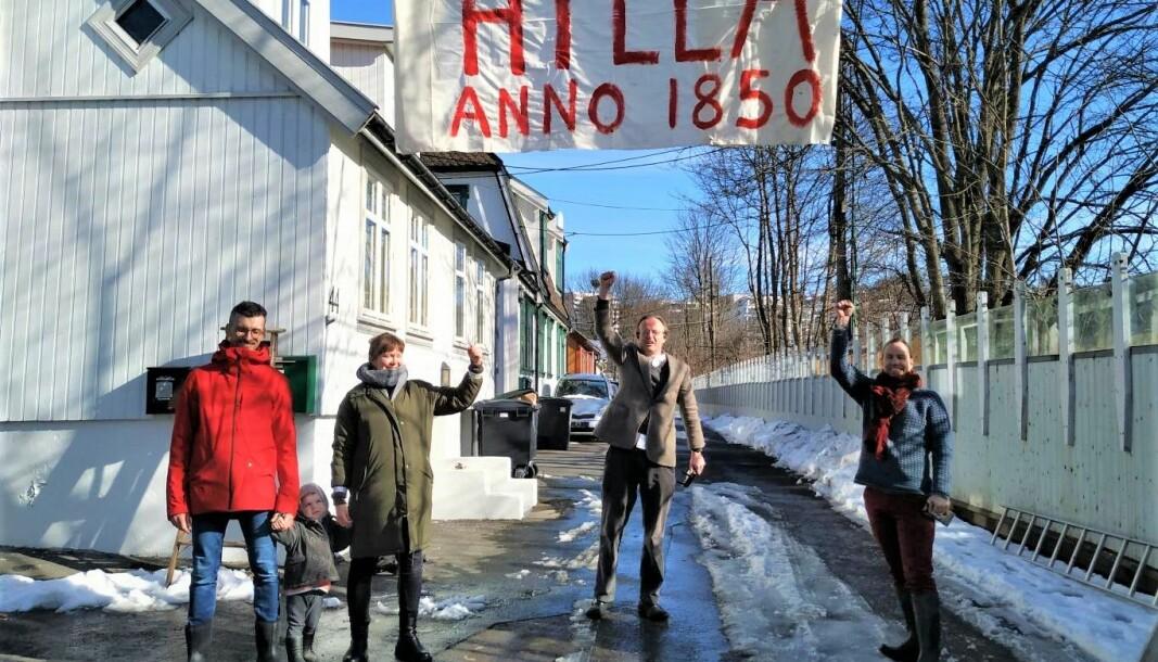 — Riving av våre hjem er en rasering av verneverdig bebyggelse som savner sidestykke siden Enerhaugen ble revet på 60-tallet, sier beboerne på Hylla.