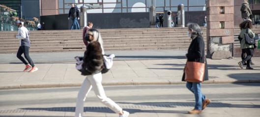 Smittetall går ned. Halvparten så mange koronatilfeller i Oslo som for en uke siden