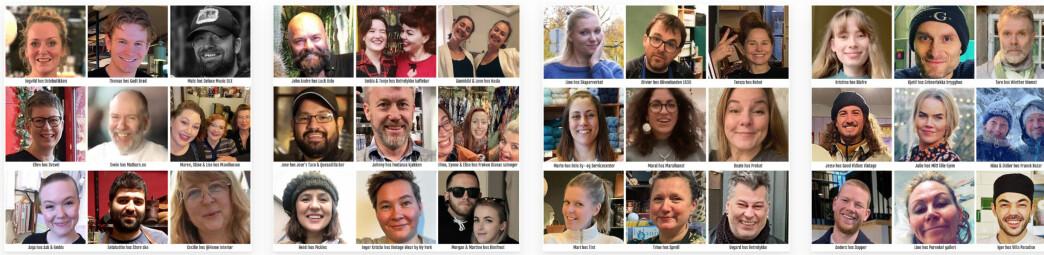 Oversikten over hvilke medlemmer som har nettbutikker som følge av pandemien.