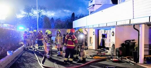 Brann i kjedet enebolig i Bråtenalleen på Grefsen