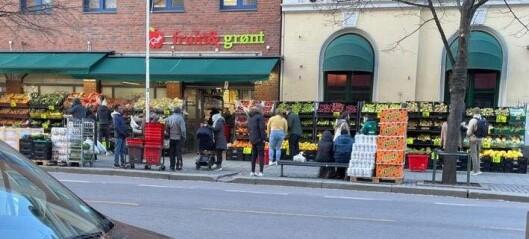Politianmeldt i 2018: Andre påskedag holdt Real Frukt og Grønt på Grønland igjen åpent på en helligdag