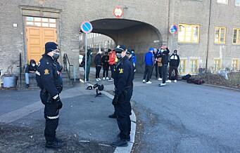 Full politi-utrykning på grunn av musikkvideo-innspilling på Lille-Tøyen