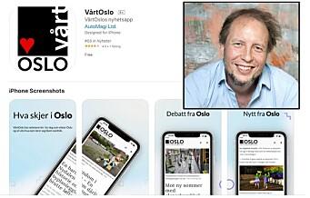 VårtOslo har laget en app du kan laste ned. Slik kan du oppdatere deg på det som skjer i lokalmiljøet ditt