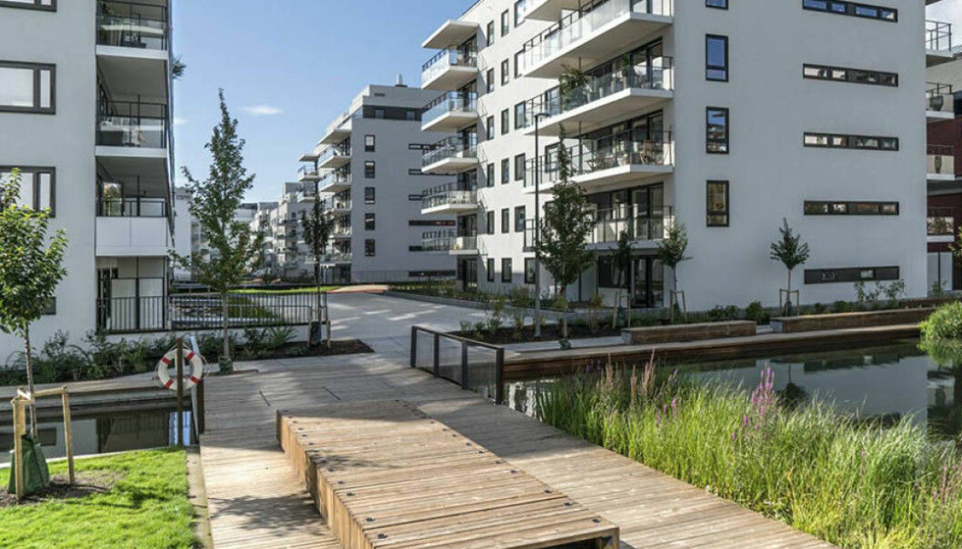 Obos-leilighetene i Stålverkskroken på Ensjø har hatt prisstigning i 12 måneder på rad før et lite prisfall i mars.