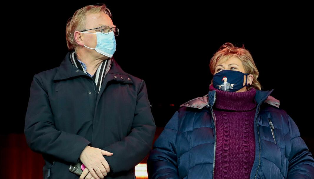 Statsminister Ernas Solberg fikk bot, mens hennes mann, Sindre Finnes, og de andre gjestene på Geilo slapp unna straff.