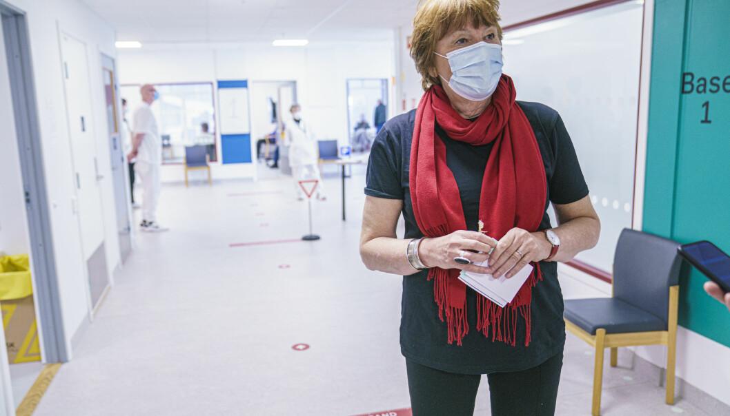 Oslo-ordfører Marianne Borgen håper at hovedstaden skal få håper at vi skal få enda flere vaksiner slik at vaksineringen i storbyen kan gå fortere.