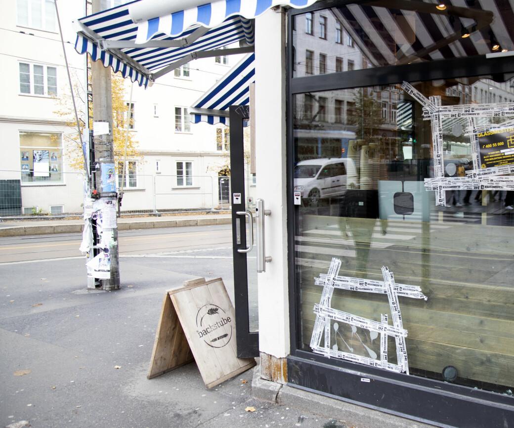 Bakeriet Backstube, som ble truffet av politiets skudd, ligger i krysset Vogts gate – Hegermanns gate på Torshov.