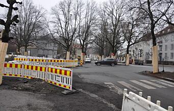 Fjernet verneverdig stein under bygging av sykkelvei i Gyldenløves gate: - Uheldig, svarer Lan Marie Berg (MDG)