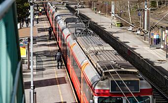 Ett spor mellom Holmlia og Kolbotn til søndag