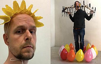 Grünerløkka-kunstner Jan Hakon (42) har 760.000 følgere fra hele verden på Instagram. Hva han gjør? Sprekker ballonger!