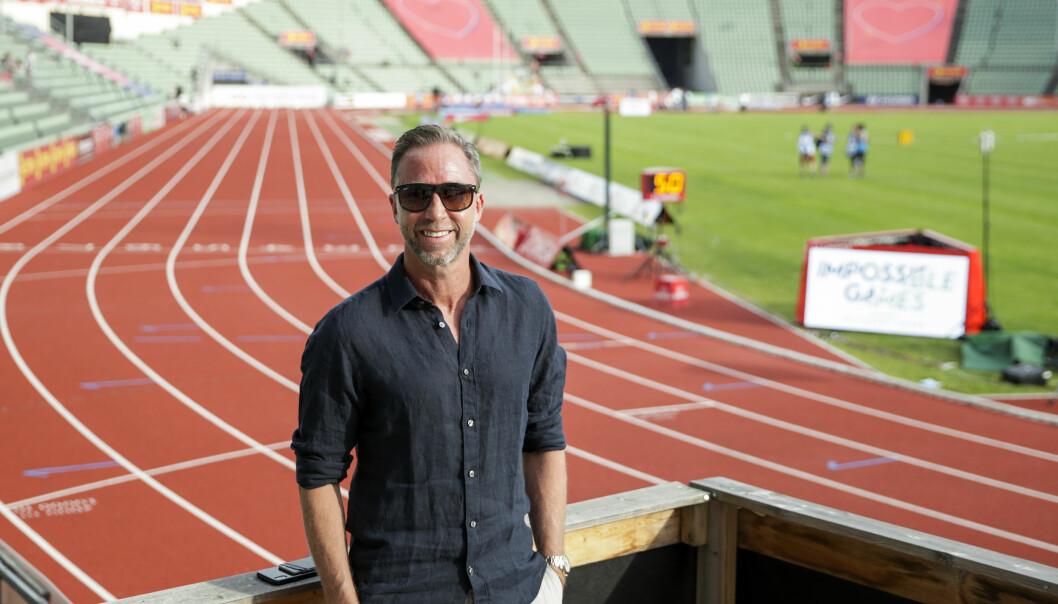 Steinar Hoen, stevnedirektør for Bislett Games under fjorårets Impossible Games på Bislett.
