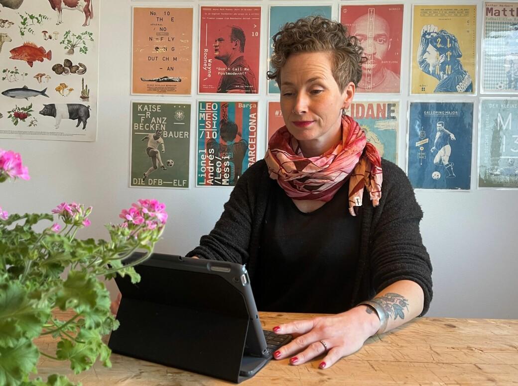 Koronarestriksjoner gjorde at Live Glesne Kjølstad fulgte Høyesteretts behandling av saken digitalt hjemmefra.