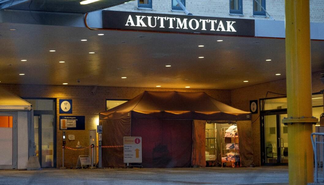 Hverken akuttmottaket eller operasjonsstuer ved Ullevål sykehus ble rammet av strømbruddet. Det var bygninger på østsiden som var strømløse, opplyser sykehuset.