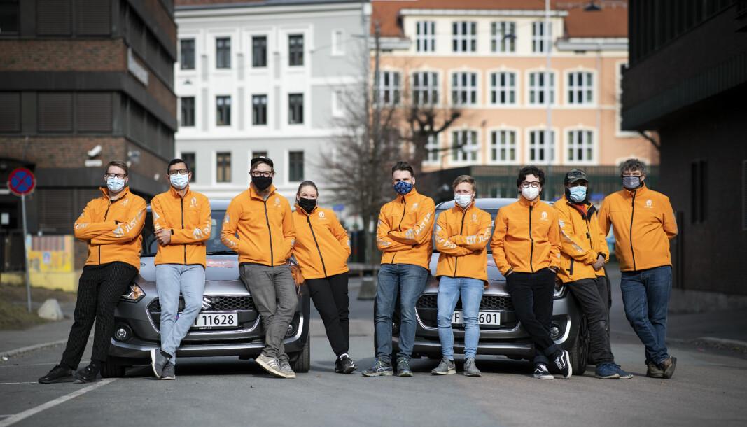 Disse fikk nylig jobb. Fra venstre til høyre: Gabriel Vieira, Lars Stray, Selina Andersen, Christoffer Hoel, Jan Daviknes, René Wallach, Sander Lillemoen, Thomas Debelian, Yasir Ali.
