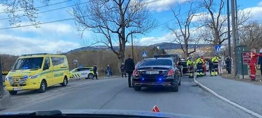 Tre biler har kjørt inn i hverandre på Bygdøy