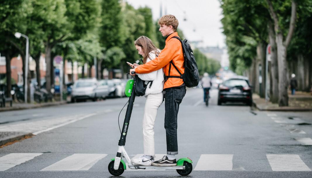 Samferdselsminister Knut Arild Hareide (KrF) er særlig opptatt av forbudet mot flere enn én person på elsparkesykkelen.