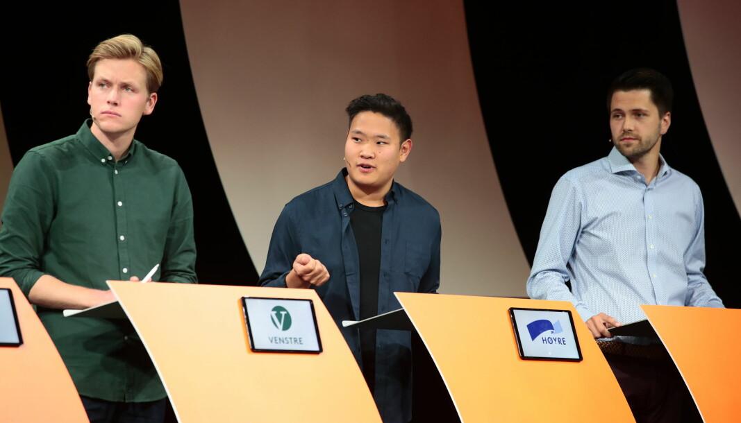 Unge Høyre og Unge Venstre har ikke oppfylt kravet til medlemstall og får pengestøtte fra Oslo kommune i 2021. Personene på bildet har ikke nødvendigvis noe med søknadene til kommunen å gjøre.