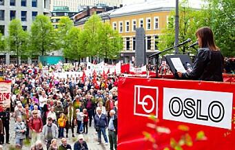 Arbeiderbevegelens 1. mai: Til kamp mot økte forskjeller og ja til ny regjering