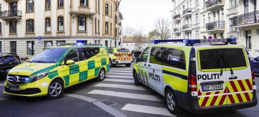 Kvinne skutt og drept i Tostrups gate på Frogner i morges. En mann pågrepet kort tid etter drapet