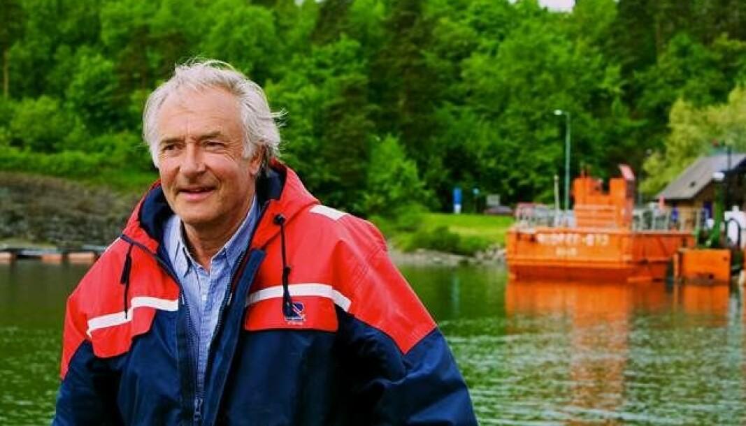 Knut Che. Hallan har i mange år kjempet for en renere Oslofjord, og har ofte hatt følelsen av å sloss mot politikere og mot Miljødirektoratet