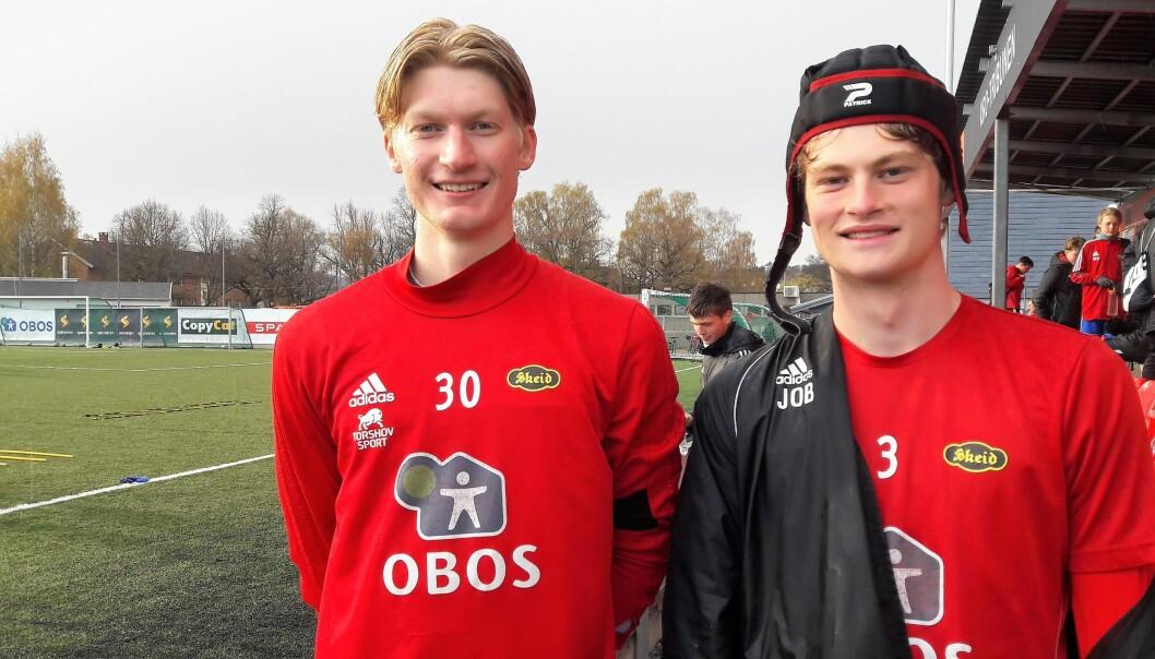 Skeid lar ungdommen slippe til. Keeper Kasper Lunde Ofstad og forsvarspiller Jason Buan er to av i alt seks juniorer som har blitt flyttet opp i A-stallen denne våren