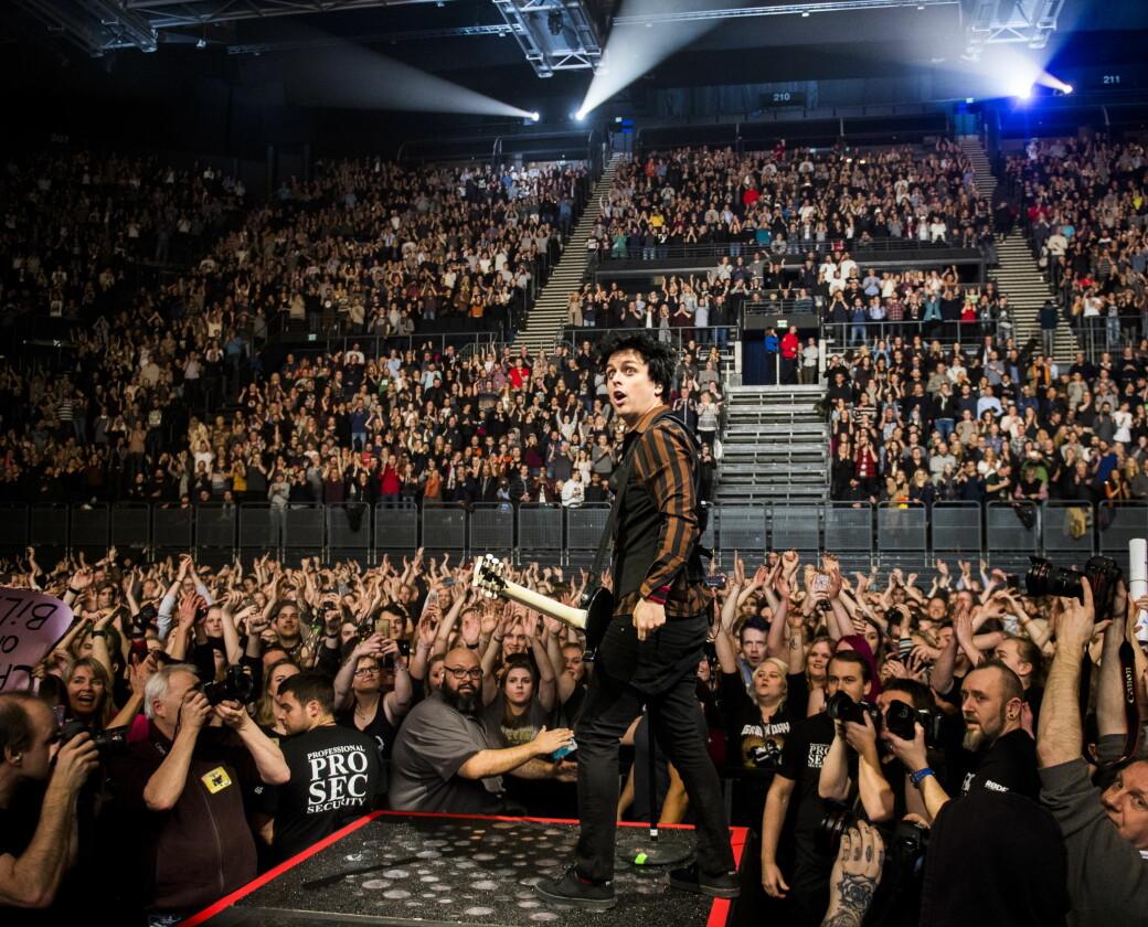 Pre koronapandemien: Amerikanske Green Day og frontfigur Billie Joe Armstrong gjestet Oslo Spektrum i 2017.