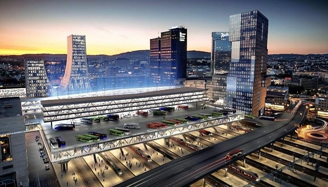 Det blir ikke noe av ideen om en bussterminal over sporene på Oslo S.