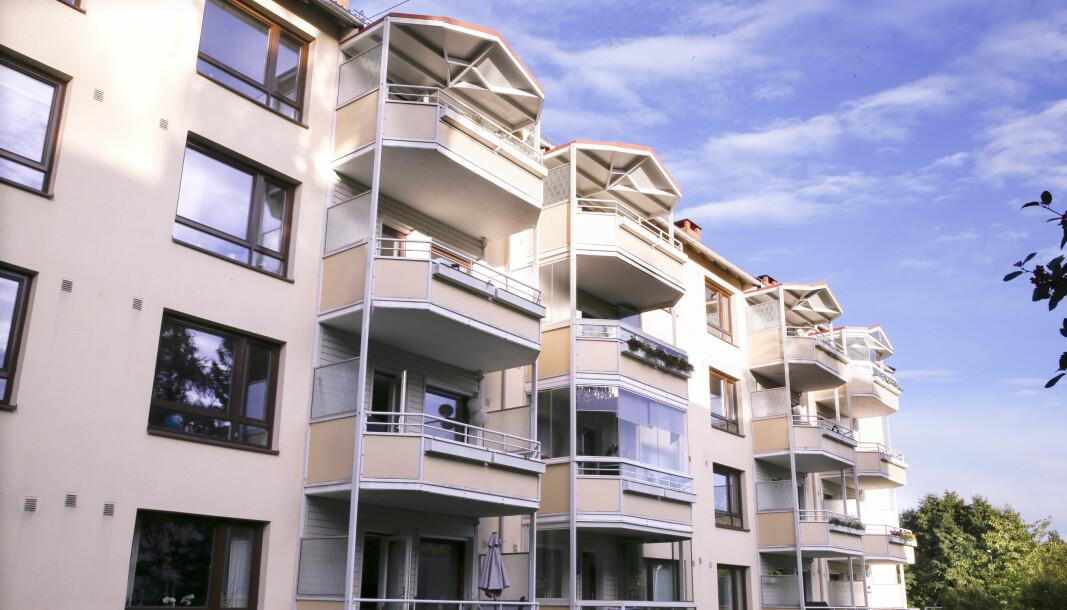 Boligprisene steg raskt i mai, men i Oslo sank de. Her fra Frysja, hvor boligprisene har steget mye så langt i år.