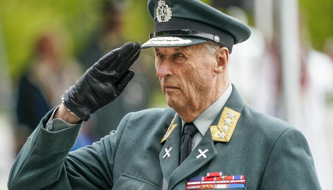 Kong Harald blir ikke å se på Nasjonalmonumentet på Akershus festning under markeringen av 8. mai.