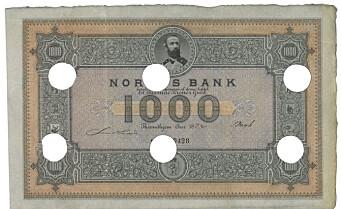 Denne tusenlappen solgte Oslo Myntgalleri for 1,5 millioner kroner