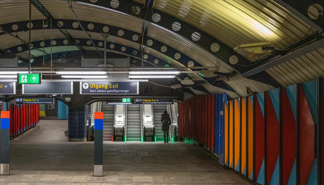 Det er stans i T-banetrafikken i Oslo sentrum i helgen på grunn av vedlikeholdstiltak.
