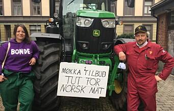 Traktorkolonnen har kommet til Oslo: – Tut for norsk mat