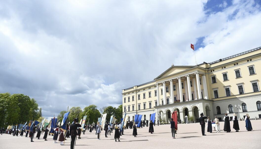 Også i fjor fikk Slottet unntak fra smittevernreglene for arrangementet på Slottsplassen.