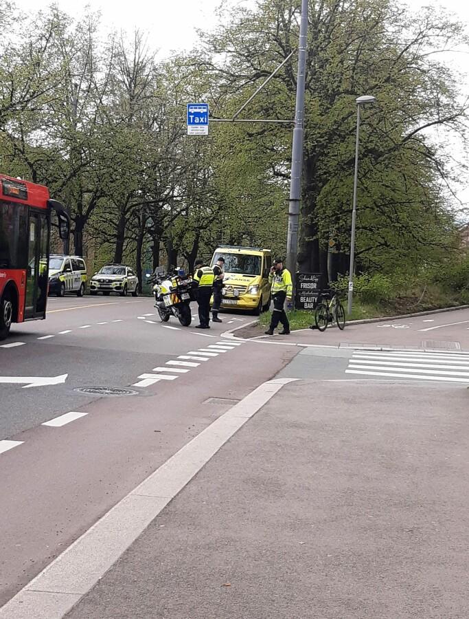 Trafikkulykken skjedde rett ved Carl Berner, i Christian Michelsens gate.