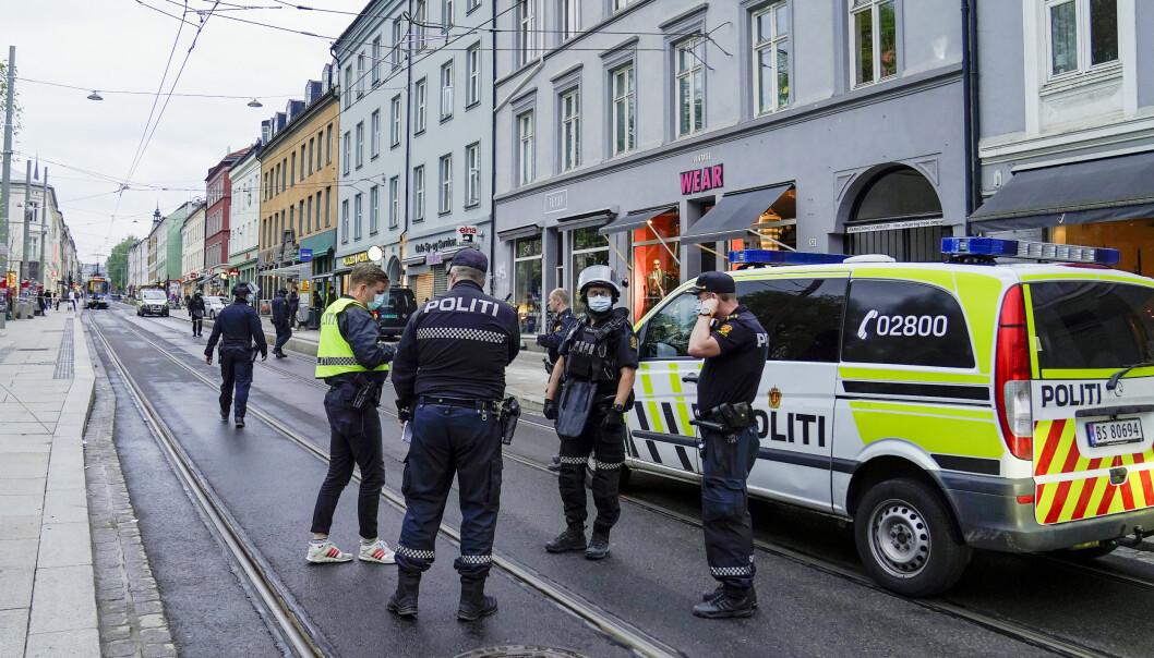Politiet rykket fredag ut til Grünerløkka i Oslo etter melding om at det var blitt avfyrt skudd i bydelen.