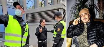 Her blir rap-artist Mikal Bøckman (33) arrestert fordi han kommenterer politiets oppførsel. Se videoen