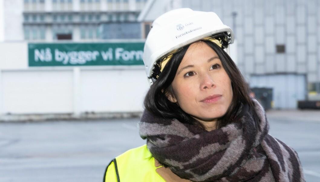— Det har vært et anleggsarbeid i regi av Statens vegvesen rett ved målestasjonen, som med stor sannsynlighet har påvirket disse målingene, sier Lan Marie Berg (MDG).