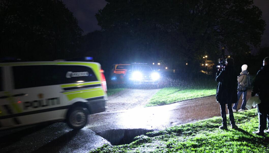 To personer er skadd etter melding om slagsmål i Frognerparken. Politiet har store styrker på stedet og i søk etter mulige gjerningspersoner.