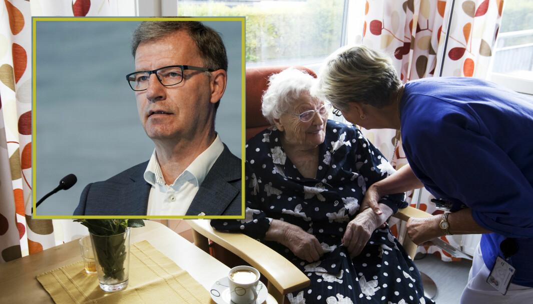 «Jeg lytter til sykepleierforbundets tillitsvalgtes bekymring for mangelfullt arbeidstøy. Heldigvis er de aller fleste hjemmeboende eldre nå vaksinert