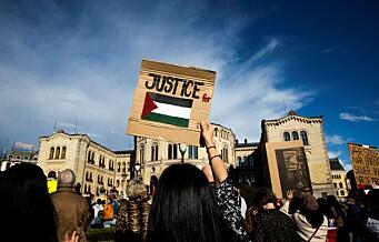 Oslo Frp-listetopp Jon Helgheim politianmelder Palestina-demonstrasjon