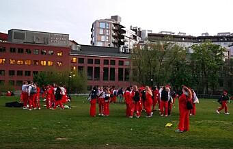 Mye russ samlet på Voldsløkka, i Frognerparken og Grünerhagen i natt. Men de får skryt av politiet